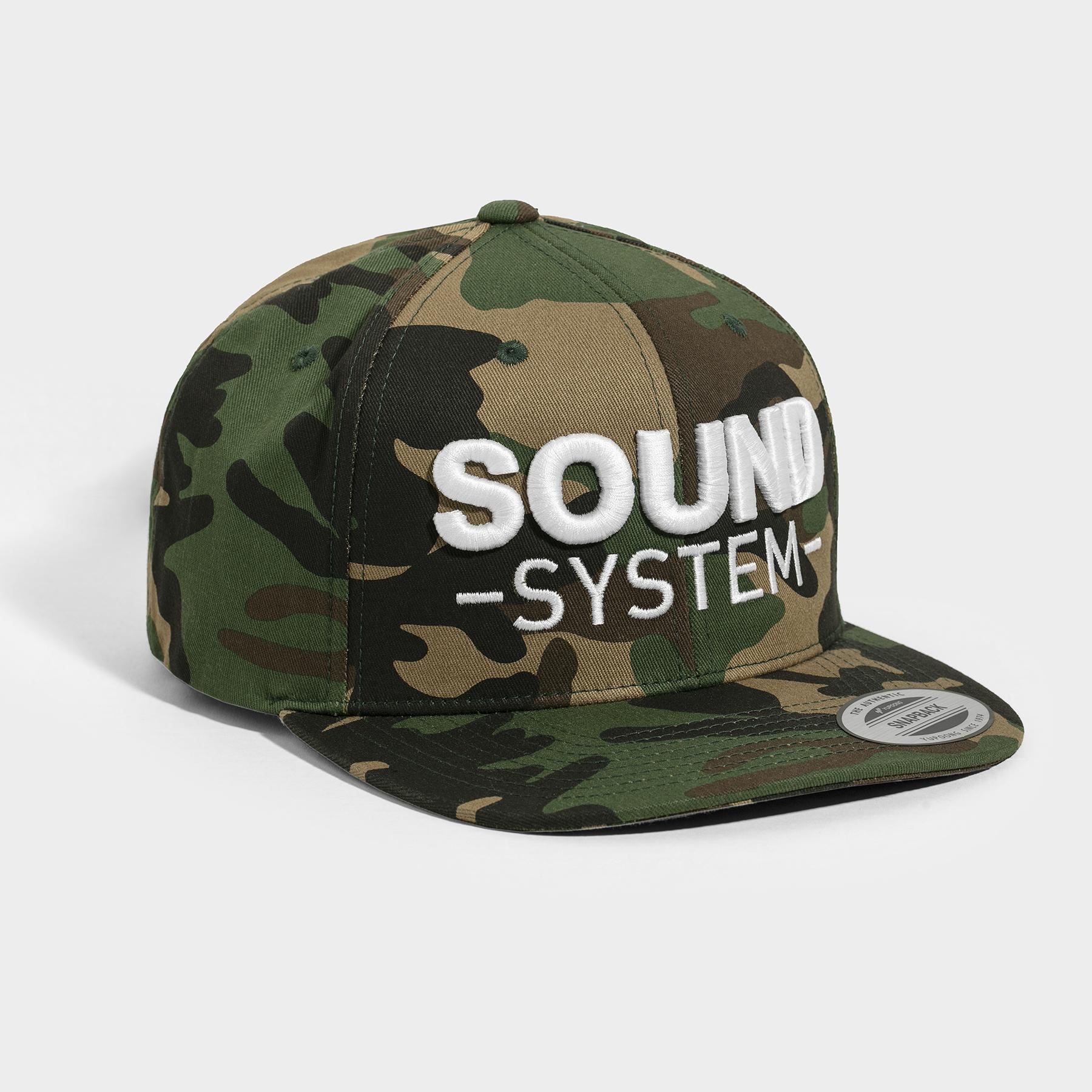 Sound System Woodland Camo Snapback  555f499597db